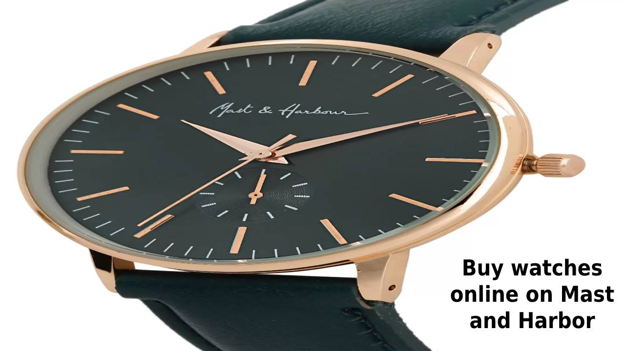 Buy watches online on Mast and Harbor