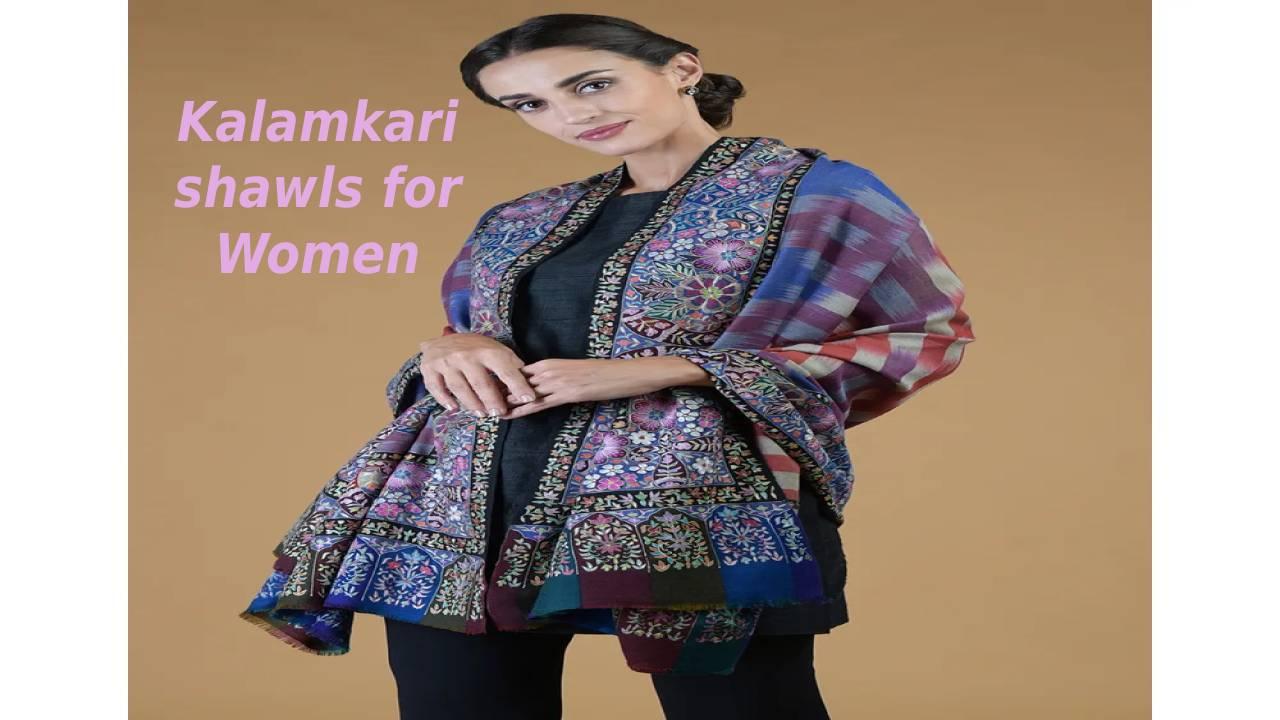 Kalamkari shawlsfor Women