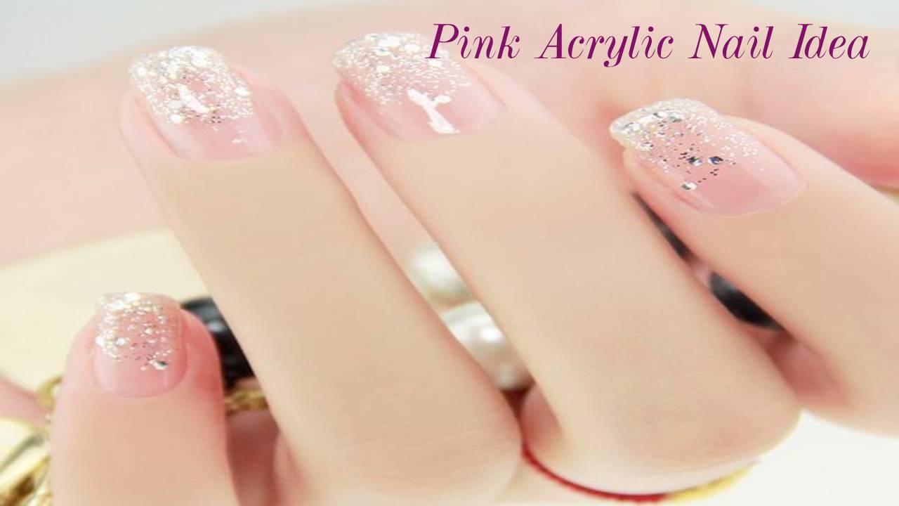 Pink Acrylic Nail Idea