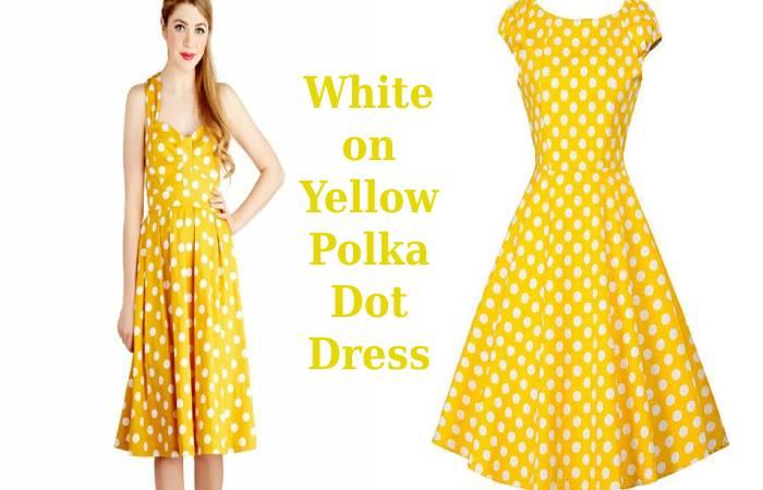 White on Yellow Polka Dot Dress