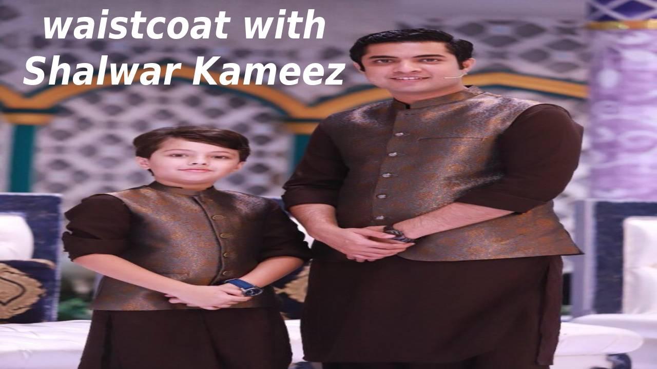 waistcoat with Shalwar Kameez